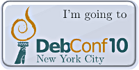 I'm going to DebConf10, the 2010 edition of the annual Debian developers meeting