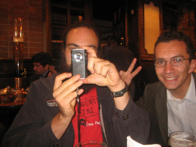 Trying to take a photo, with Alejandro Ríos