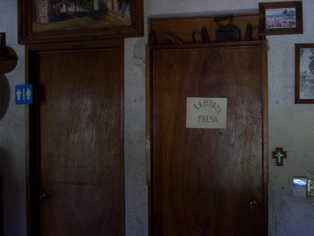 A fake door?