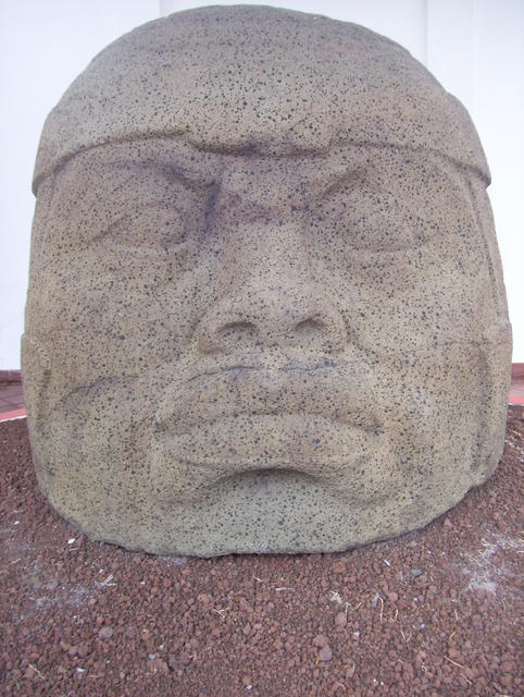 A (smaller) giant Olmec head