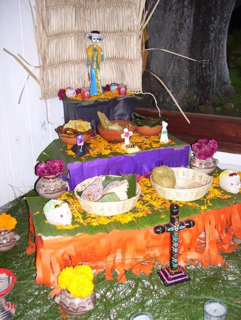 Altar for the dead in Hotel Plaza Santo Domingo