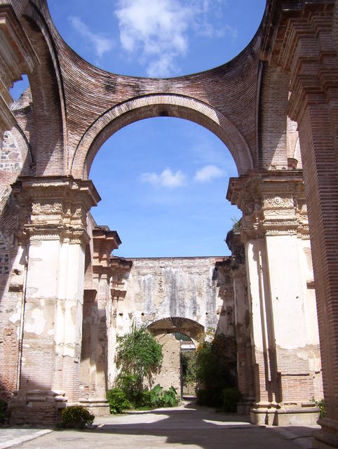 Remains (and partial reconstruction) of the old Antigua Guatemala cathedral