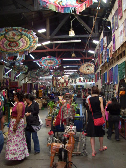 Great handicraft market in Antigua Guatemala