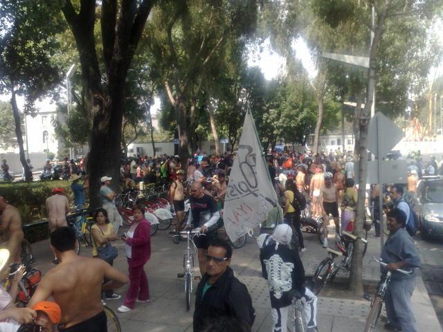 World Naked bike Ride Mexico 2010