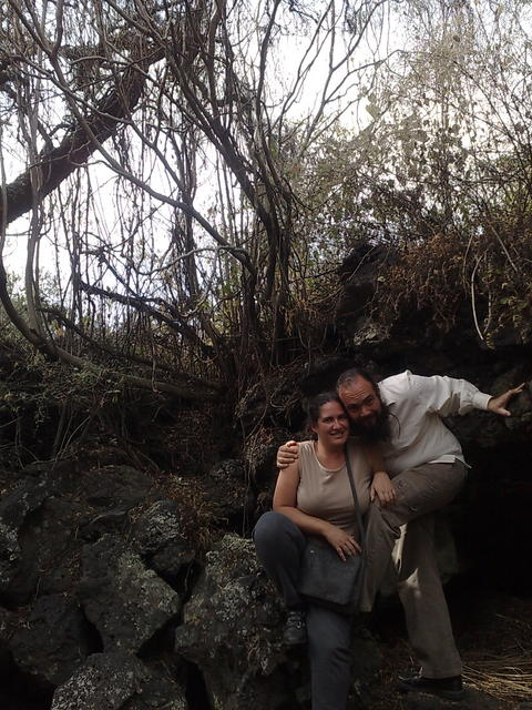 With Regina in Cuicuilco