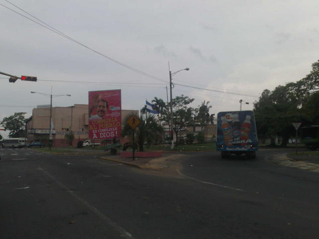 FSLN publicity all around Managua
