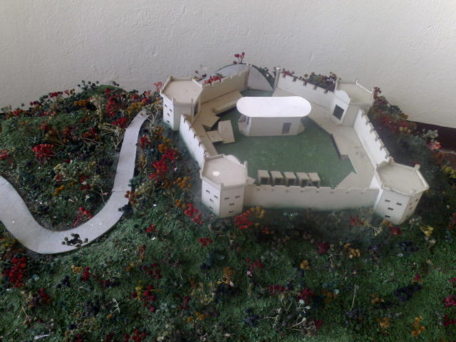 Model of the Coyotepe fortress and prision