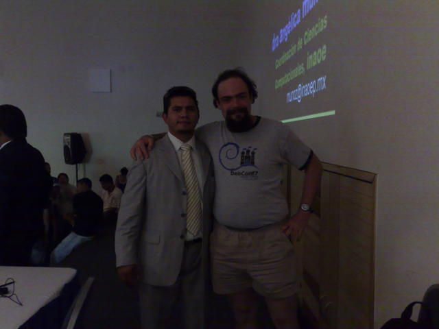 With Carlos Marín, conference organizer