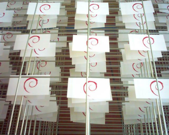 A paper Debian cluster