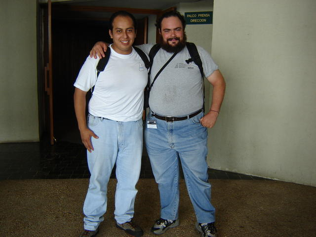 With Guillermo Betanzos