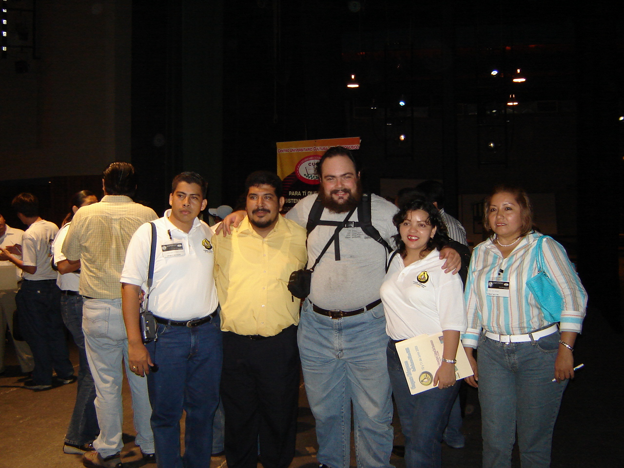 With the organizers, after closing