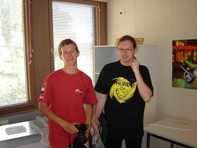 p2-mate and Arto at HIP