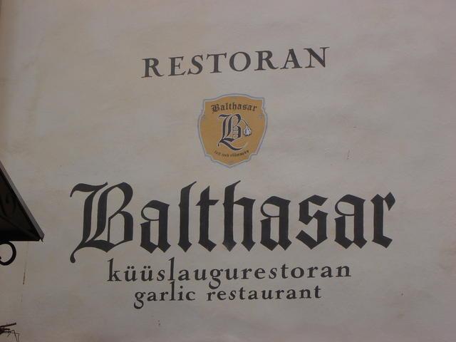 "A ""garlic restaurant""?"