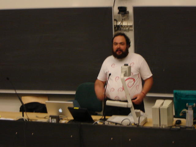 """Delivering my """"What is Free Software?"""" talk at DebianDay"""