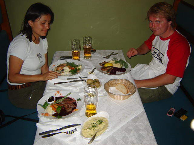 Dining with Nadezhda and Ville at the Sea Horse