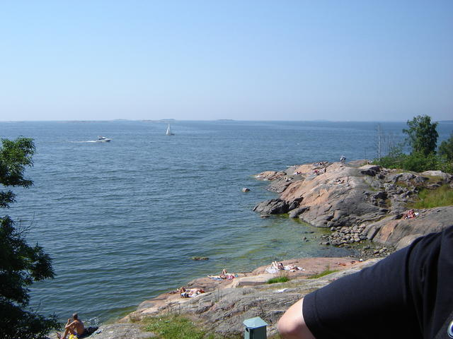 The view from Suomenlinna