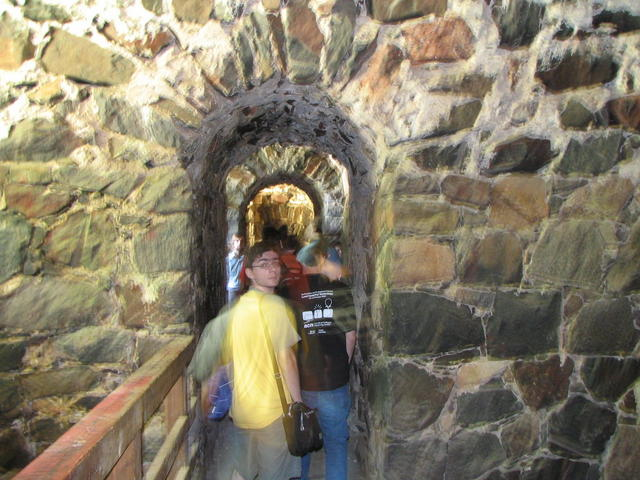 Adeodato in the Suomenlinna tunnels