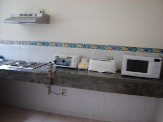 The kitchen in the familiar hotel