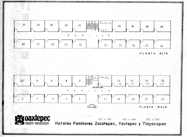 Layout for the three familiar hotels