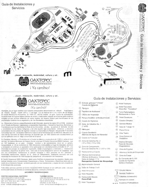 General map of Oaxtepec