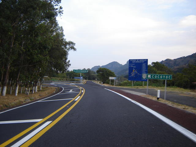 After the first toll, follow to the left.