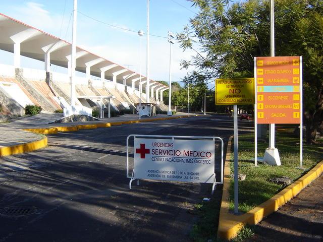 Medical service (24h), behind the stadium