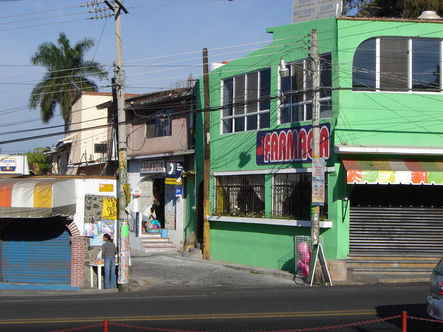 A small pharmacy, just outside Oaxtepec