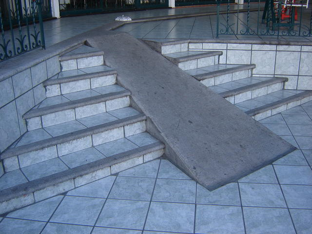 Many places have ramps for disabled people - But sometimes, the ramps are a nasty joke :-/