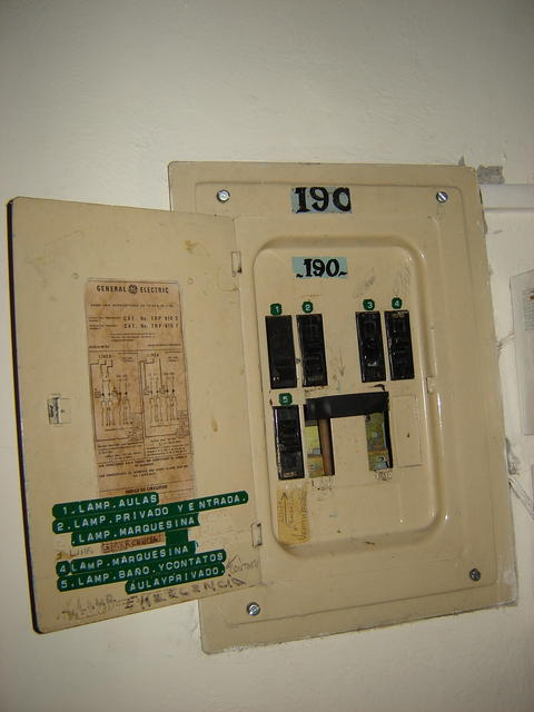 Electrical controls in the miniroom