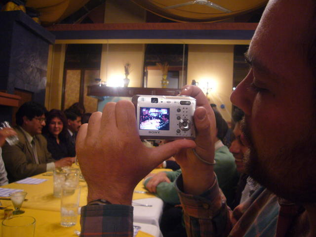 Metaphoto at the guests' dinner table, CCBol