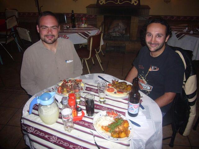 Dining with Microsoft's Christian Linacre and Sun's Álvaro López
