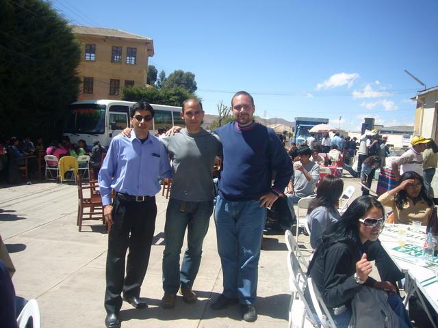 With Estéban and Álvaro at the Tomas Frías University, Potosí
