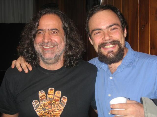 With Federico Heinz, Facultad de Filosofía y Letras, UNAM