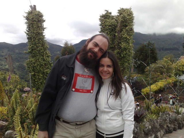 With Nina, in the Monserrate gardens