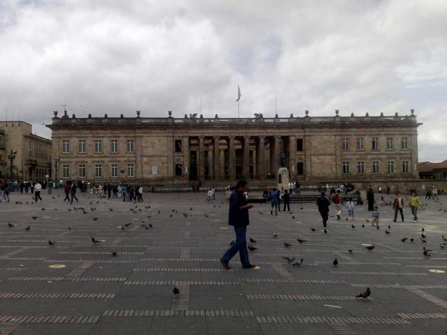 Legislative palace, in central Bogotá