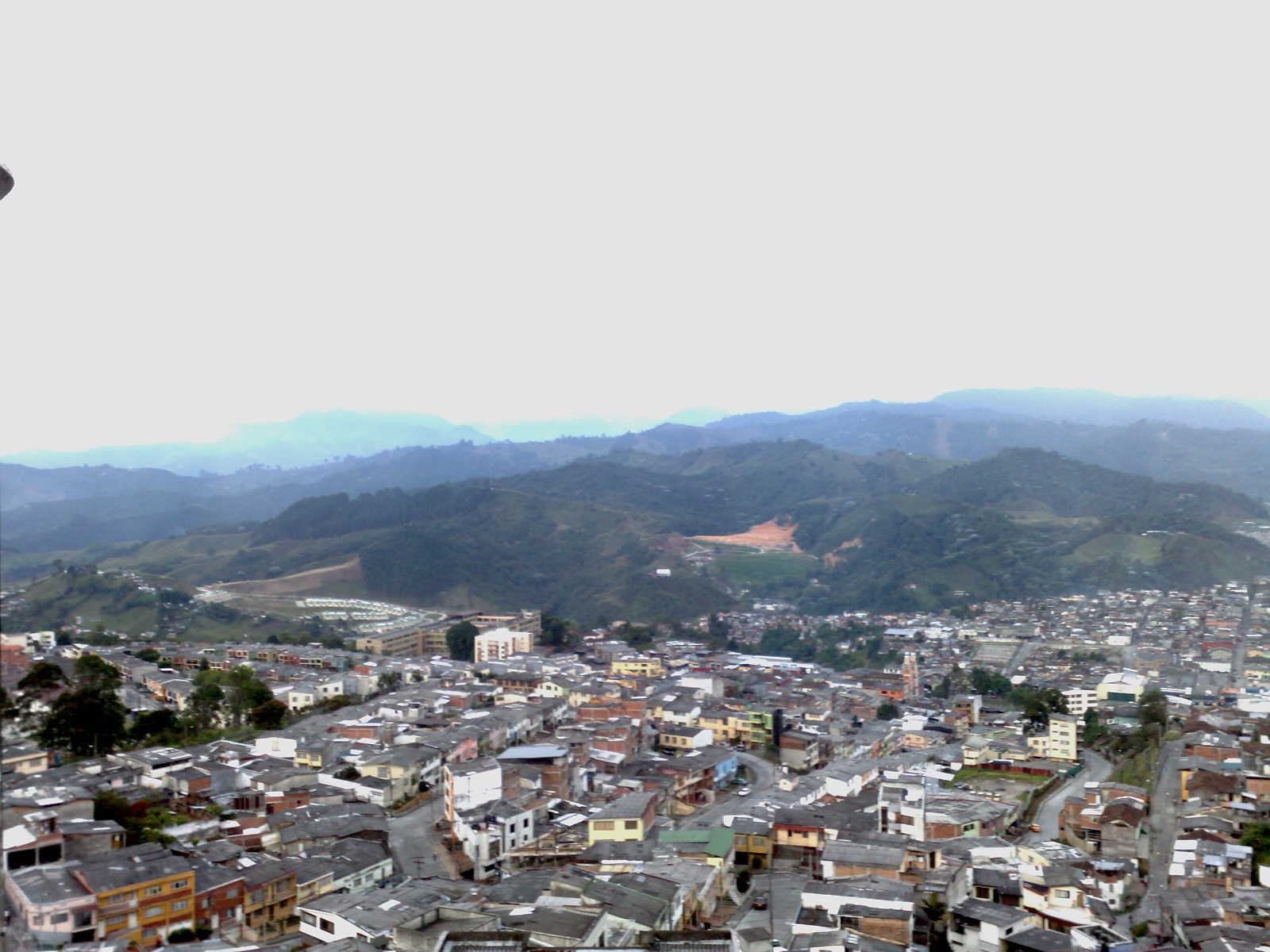 Manizales view, from the Torre al Cielo tower (Chipre)