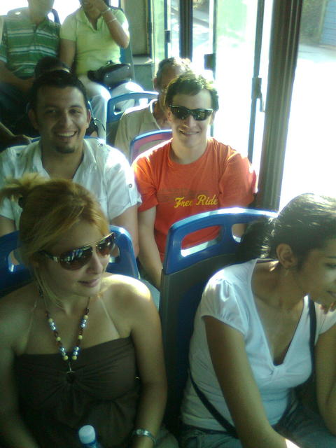 "On the ""guagua"" to Old La Habana"