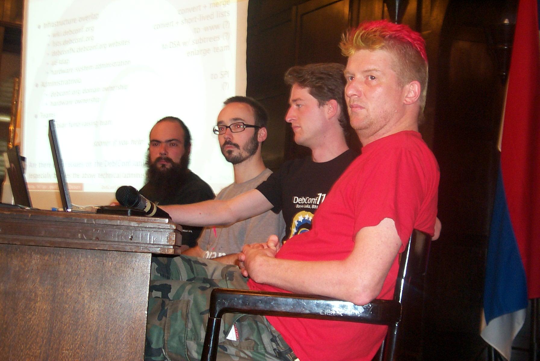 "At the ""DebConf and Debian (vs. no more!)"" BoF, DebConf11"