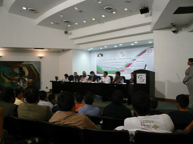 At the panel in the Mexican Senate