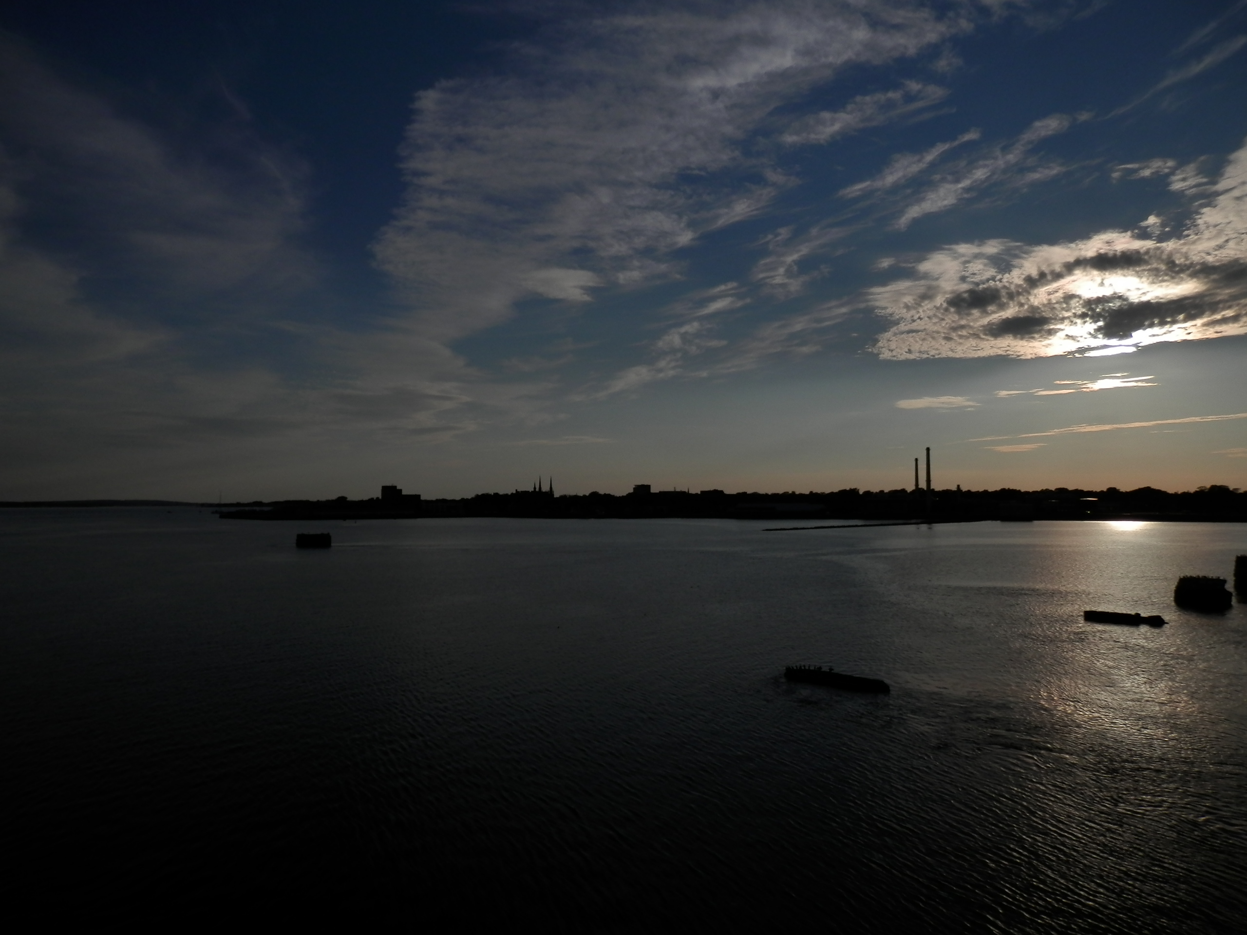 The sun sets over Charlottetown