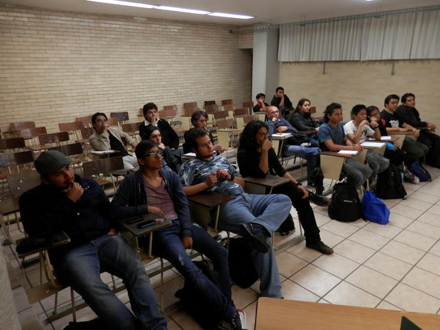 My students during Sandino's talk on memory management security