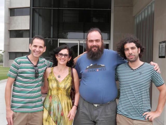 With Esteban, Ana and Federico