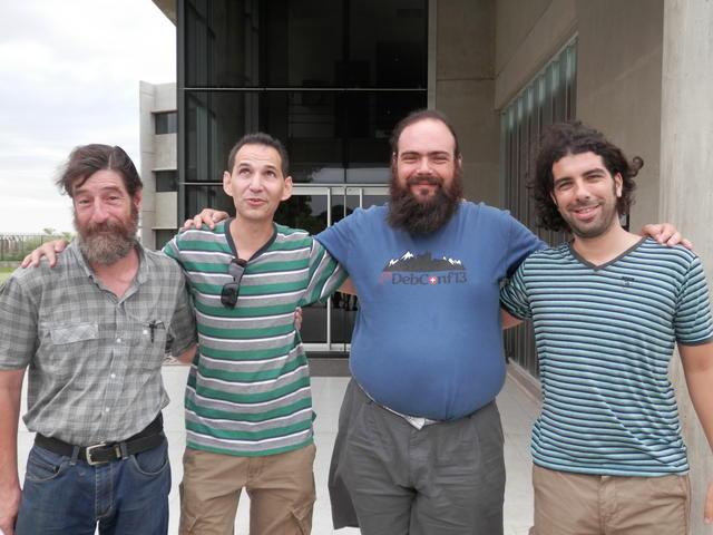 With Guido, Esteban and Federico