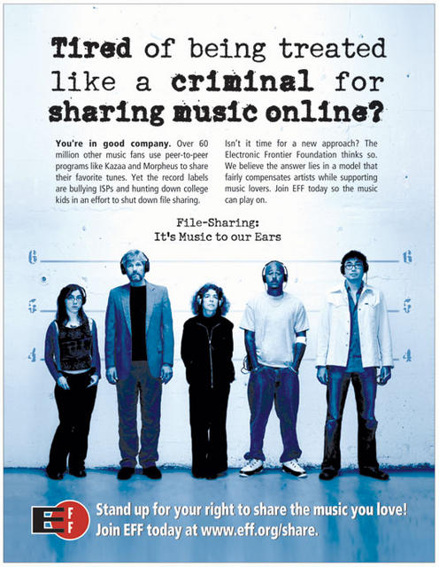 Tired of being treated as a criminal for sharing music online?