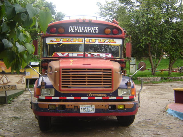 The bus that drove us back from Estel to Managua