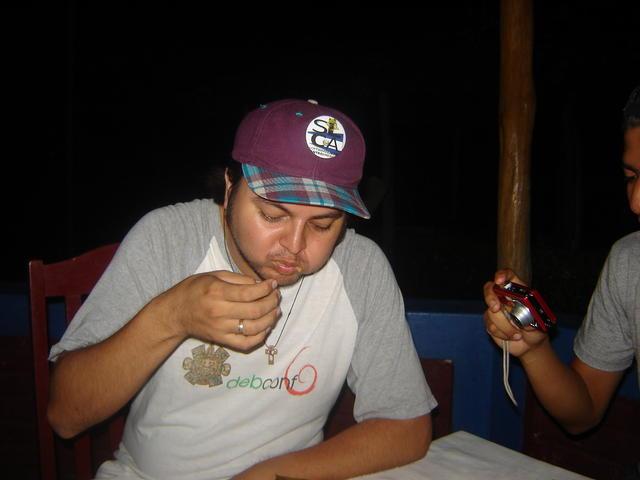 Last dinner at ECSL: Nacatamal!