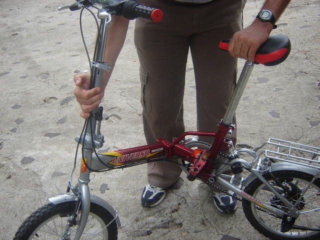 Of course, I took my foldable bike to Nicaragua