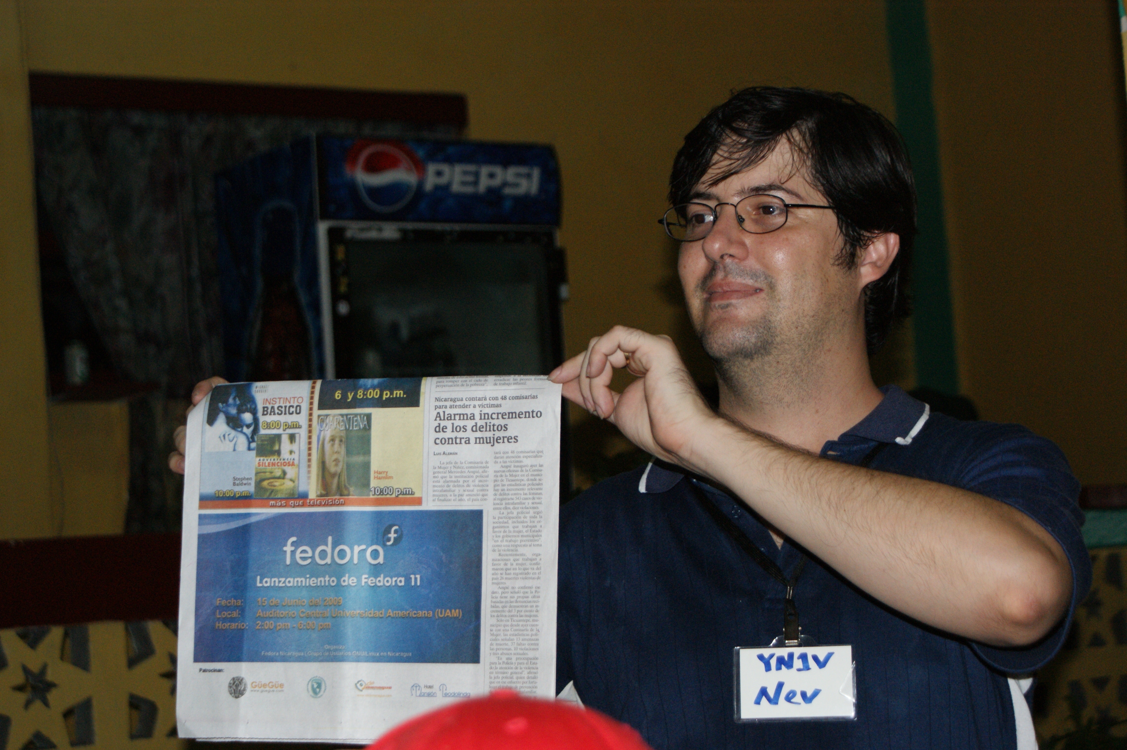 Neville shows Fedora 11 mentioned in the local press