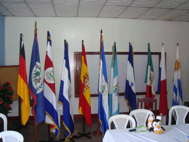 The flags of the participant countries