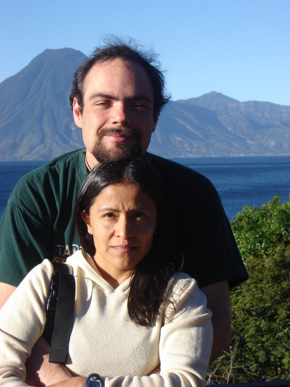 With Gaby, by lake Atitlán, Guatemala